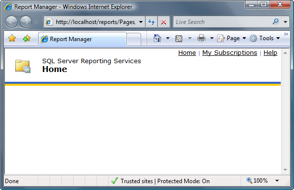 Report Manager - IE Protected Mode