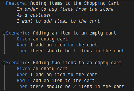Shopping Cart Feature