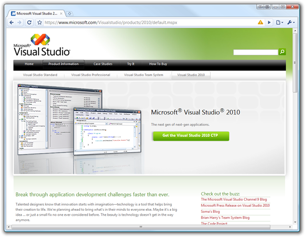 One of the first things to note is that Visual Studio 2010 allows you to wr