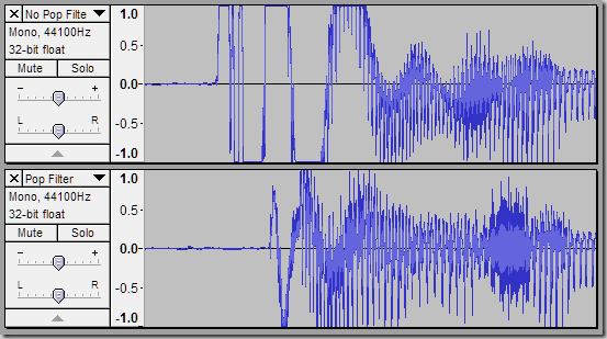 Audio Clipping Due to Popping