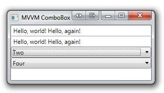 MVVM ComboBox unsynchronized